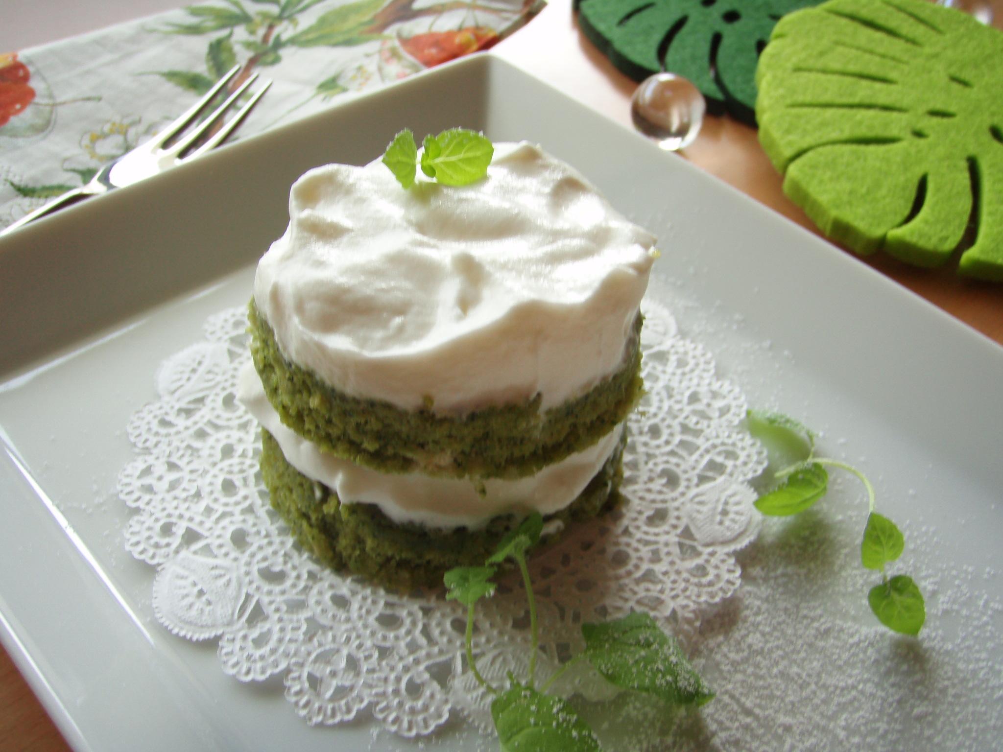 抹茶のダイエットケーキ